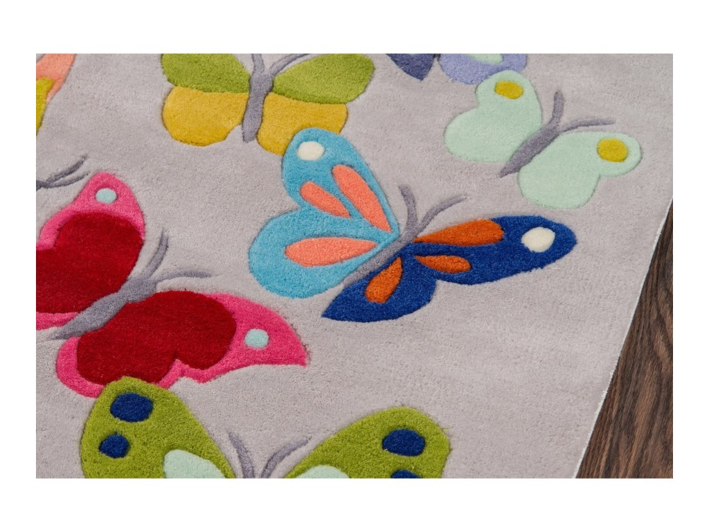 Momeni Lil Mo WhimseyButterfly Flutter 8' X 10' Rug - Grey
