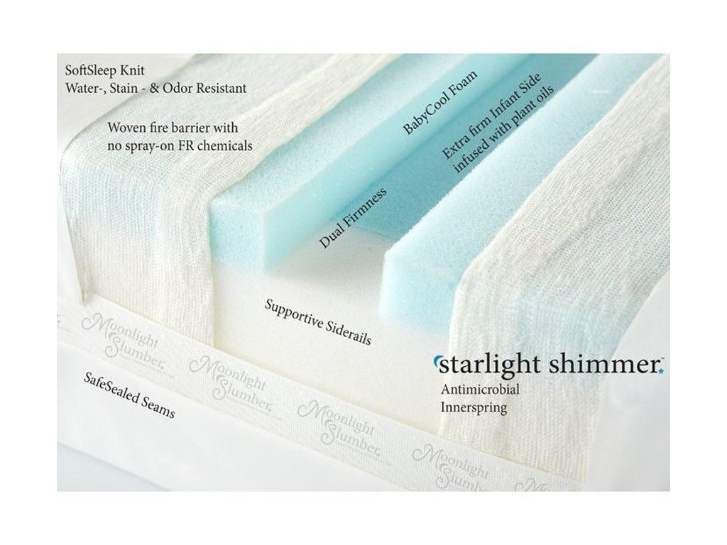 Moonlight Slumber Moonlight Slumber - Starlight ShimmerShimmer Crib All Foam Mattress