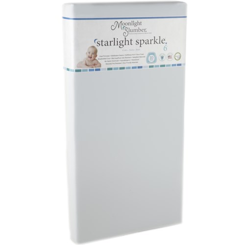 Moonlight Slumber Moonlight Slumber - Starlight Sparkle Sparkle Crib All Foam Mattress with BreatheWell Core