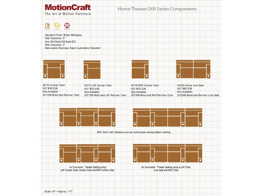 MotionCraft by Sherrill Home Theater Seating301 Series Home Theater Seating