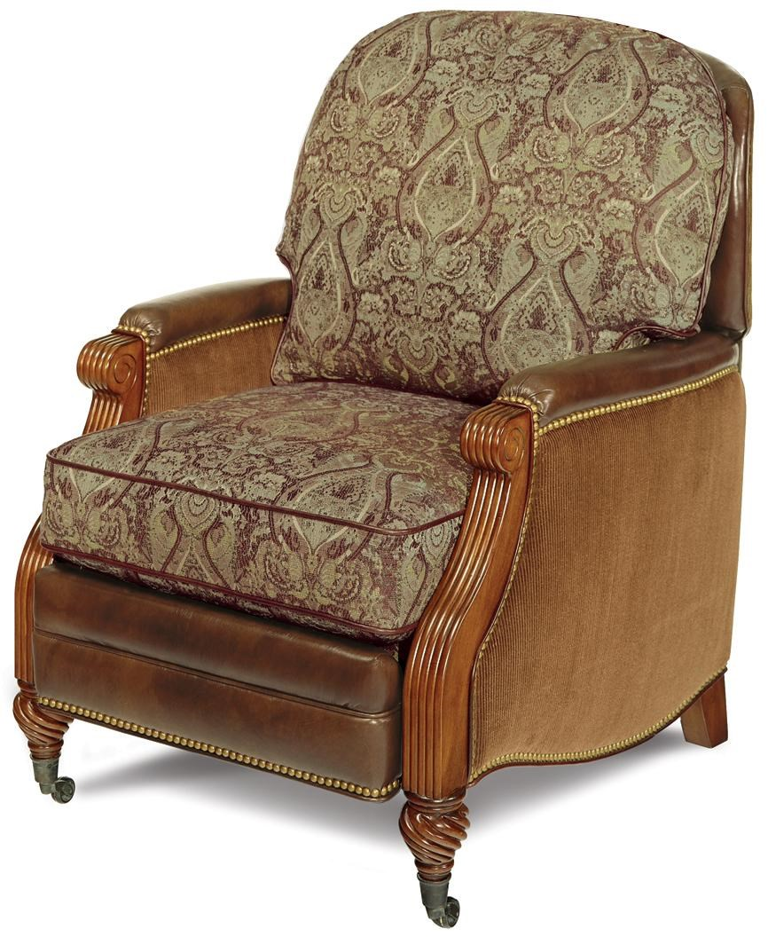 Traditional Push Back Recliner with Casters