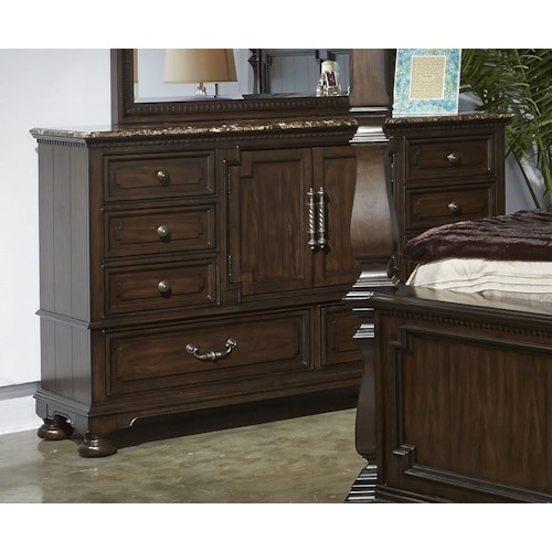 Najarian Vienna Dresser with Marble Top