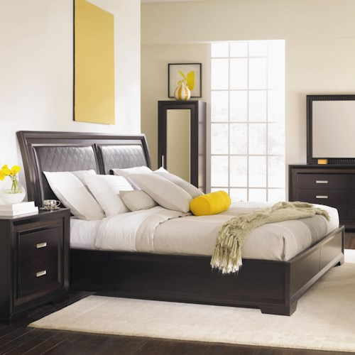 Najarian Brentwood King Upholstered Headboard Bed
