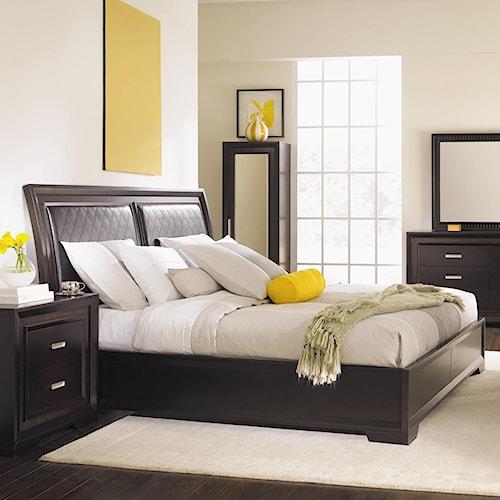 Najarian Brentwood California King Upholstered Headboard Bed