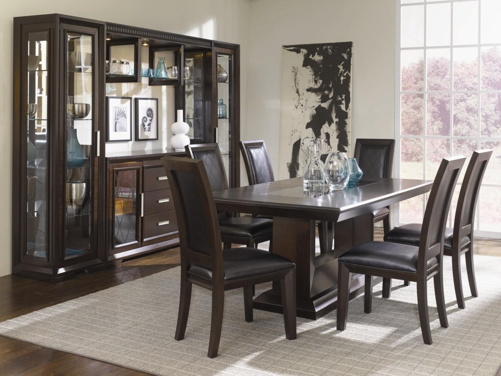Shown Within Full China Cabinet With Coordinating Dining Table and Side Chairs
