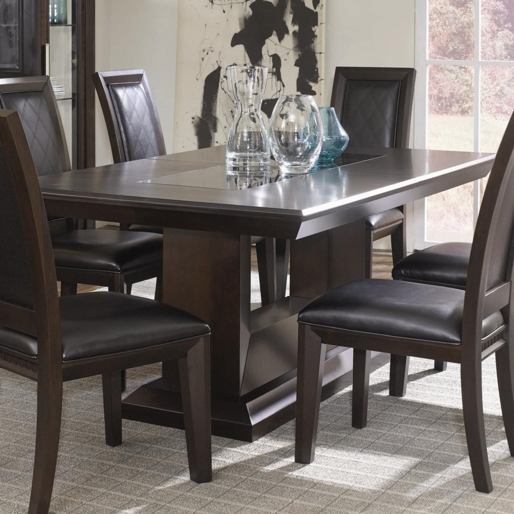najarian brentwood double pedestal dining table del sol side chairs sold separately