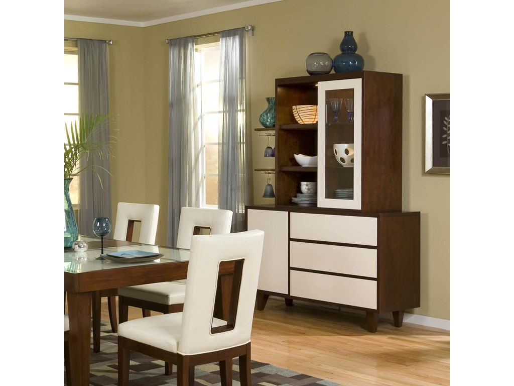 China Cabinet With Hutch Najarian Enzo Dining Two Tone China Cabinet Del Sol Furniture
