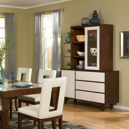 Najarian Enzo Dining Two-Tone China Cabinet
