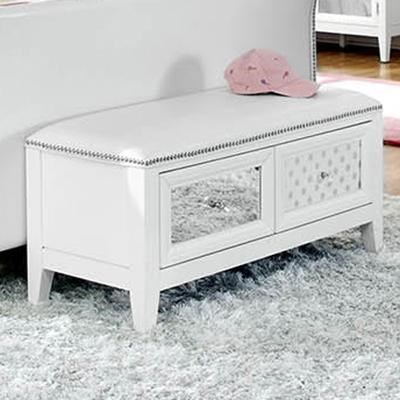 Najarian Impressions Youth Bedside Bench With 2 Drawer And Nail Head Trim