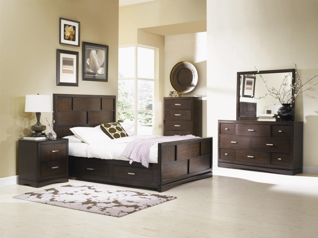 Shown with Bed, Nightstand, Dresser, and Mirror
