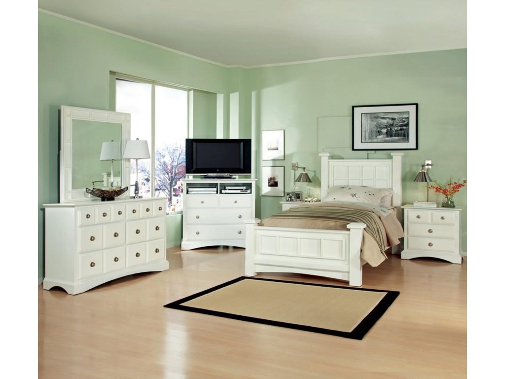Shown with Dresser, Mirror, TV Chest and Low Post Bed
