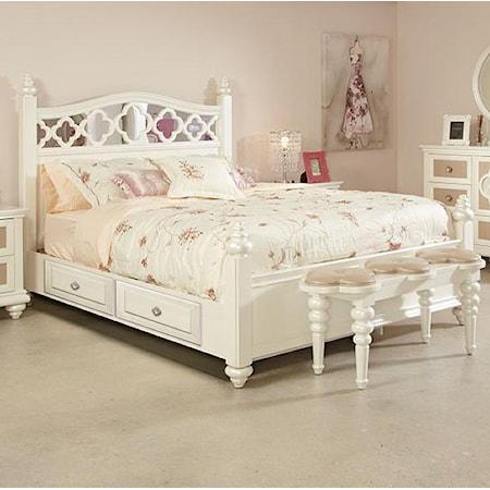 Full Panel Bed w/ Storage