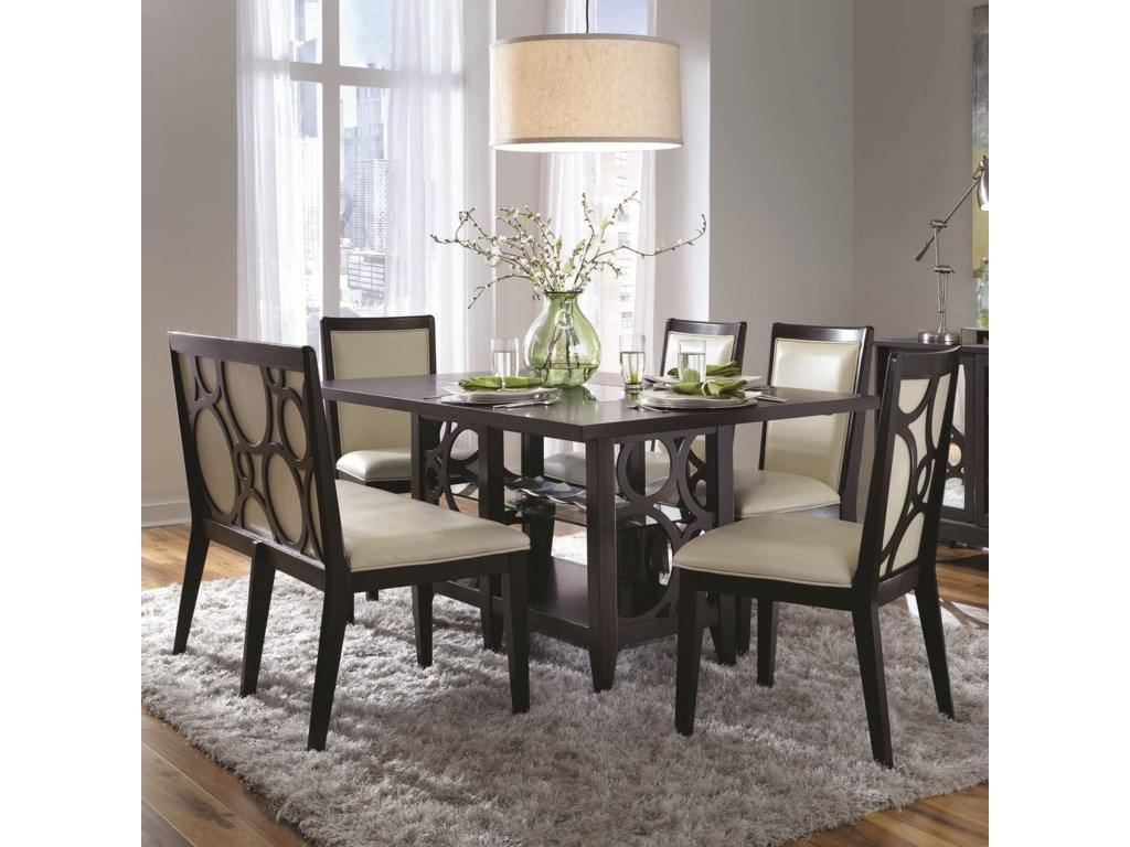 Najarian Planet6 Pc Dining Table and Chairs Set