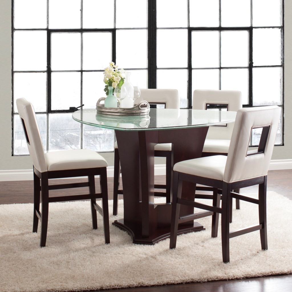 Najarian Soho Five Piece Counter Height Dining Set With Crackled