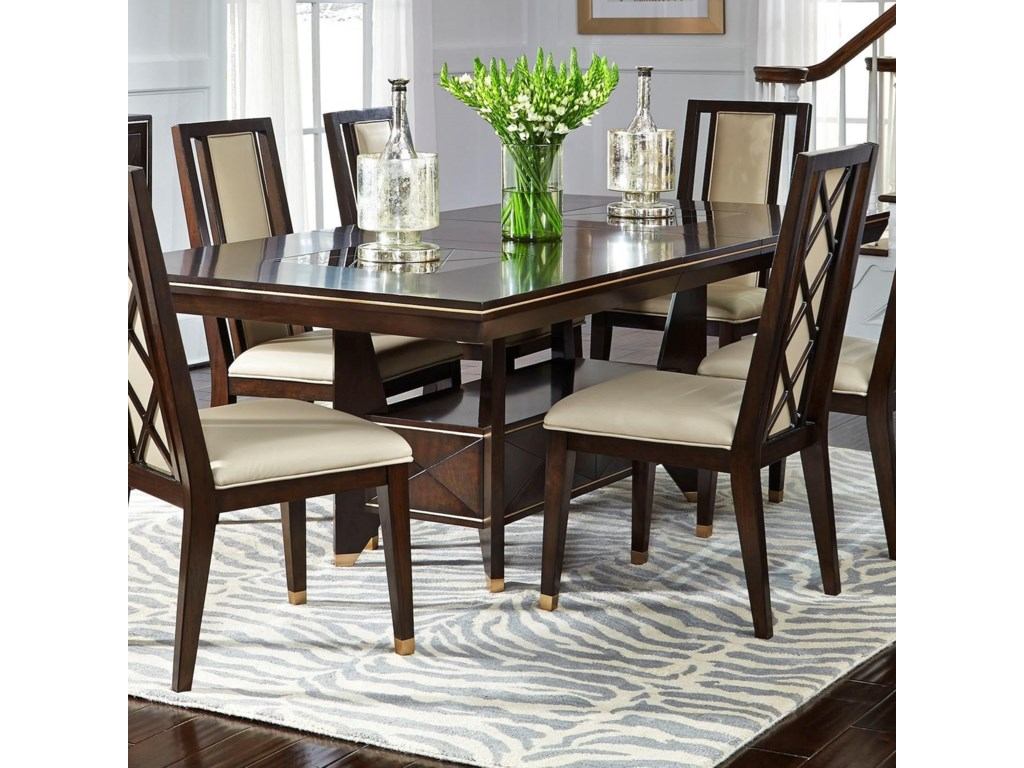 Najarian Westwood Dining Transitional Dining Table with One Leaf ...