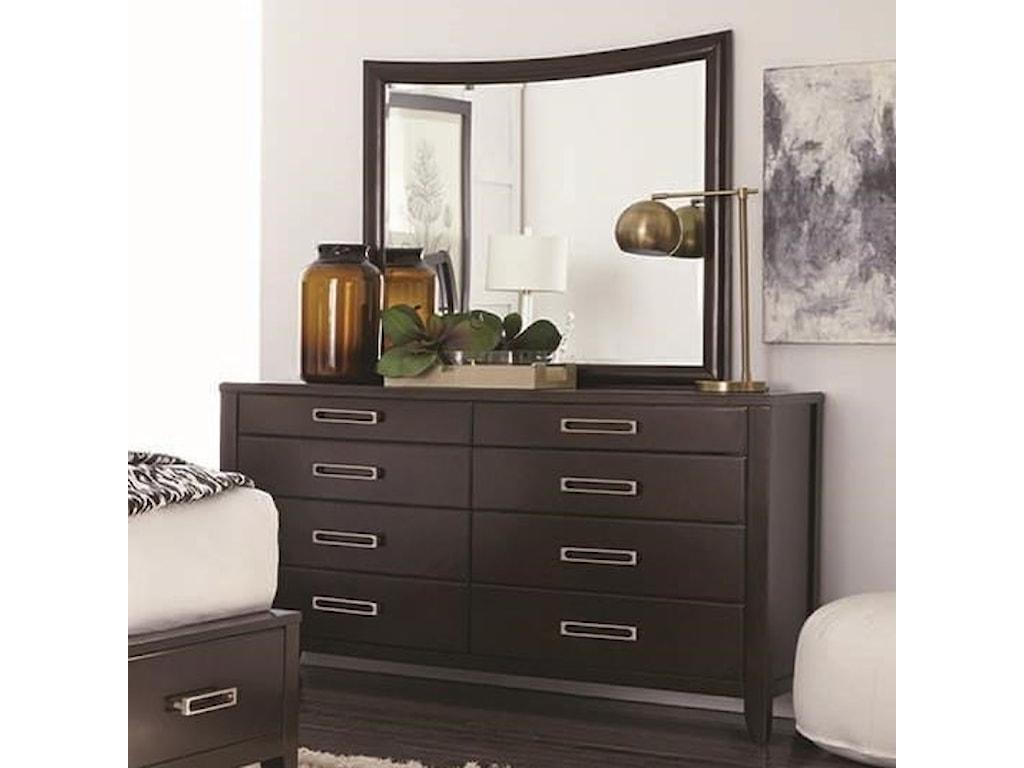 Najarian Wilshire 8 Drawer Dresser And Mirror Del Sol Furniture