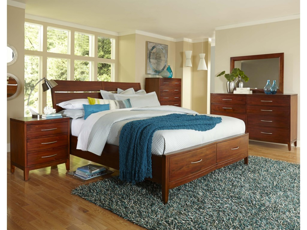 Napa Furniture Designs Boston BrownstoneCalifornia King Storage Bed