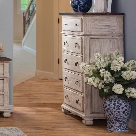 Beau Napa Furniture Designs Belmont Relaxed Vintage 5 Drawer Chest