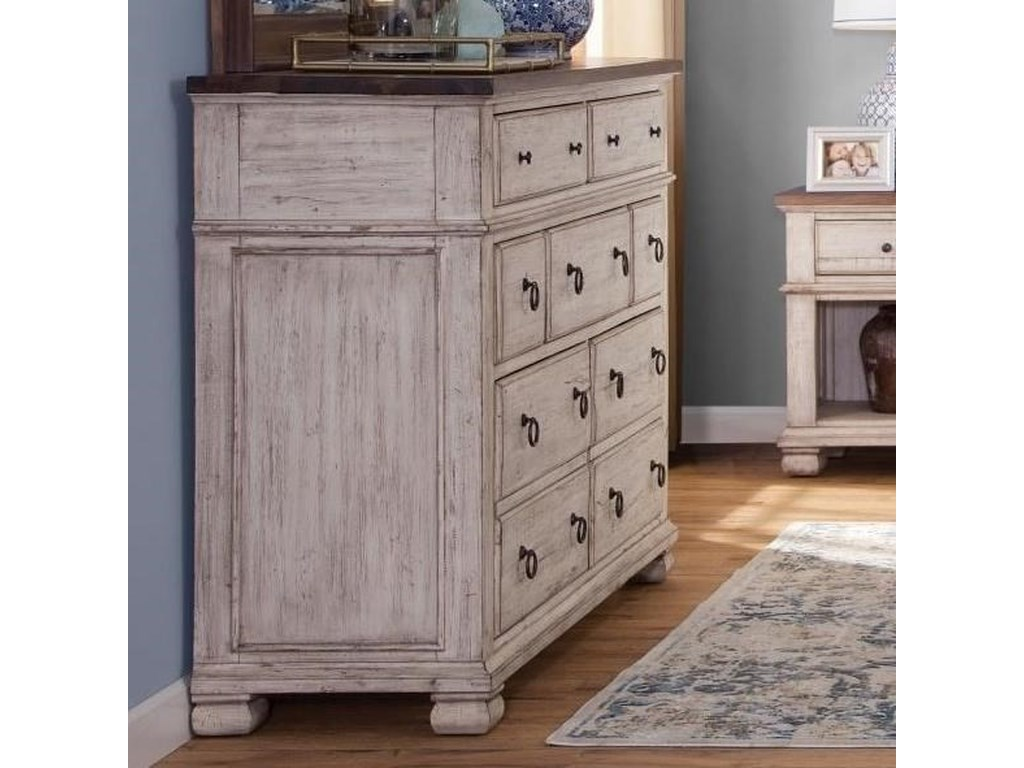 Napa Furniture Designs Belmont Relaxed Vintage Dresser with ...