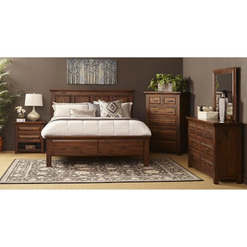 Warehouse m hill crest queen bedroom group pilgrim for L furniture warehouse queen