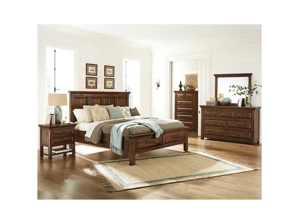 Napa Furniture Designs Hill CrestKing Storage Bed