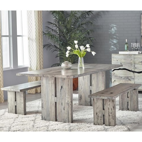 Napa Furniture Designs Renewal By Rustic Dining Set With Table And 2 Benches