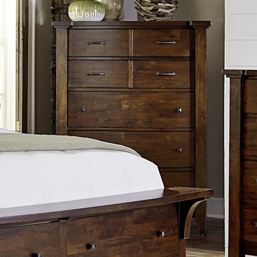 Warehouse Bedroom Furniture: Warehouse M Whistler Retreat Solid Mango 5 Drawer Chest