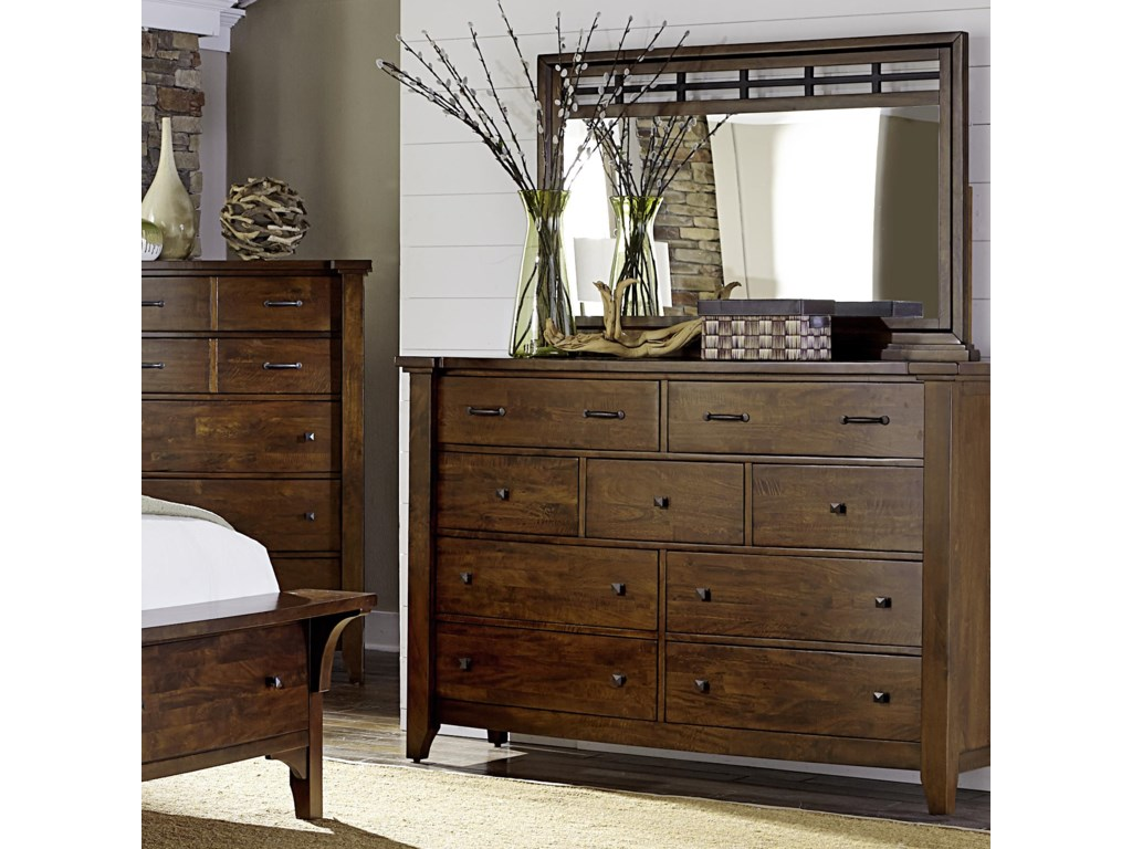 Napa Furniture Designs Whistler Retreat9 Drawer Chest & Mirror