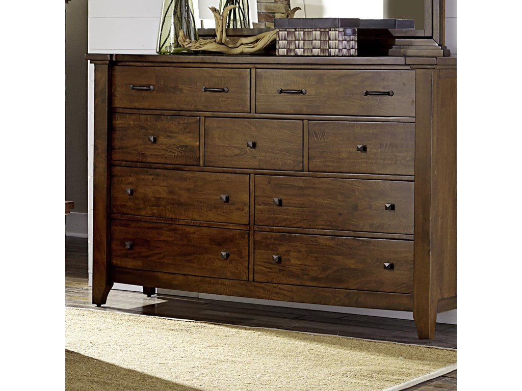 Napa Furniture Designs Whistler Retreat Solid Mango 9 Drawer Chest