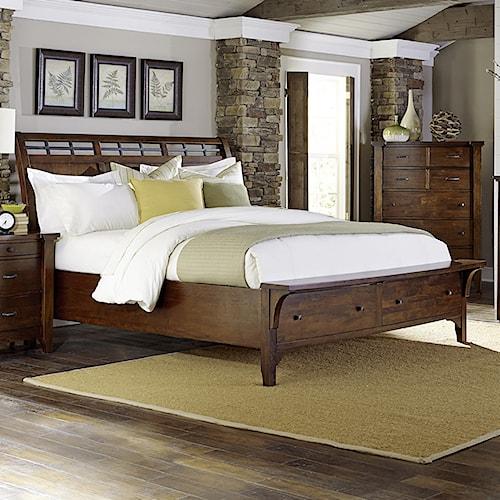 Napa Furniture Designs Whistler Retreat Solid Mango King Storage Bed Boulevard Home