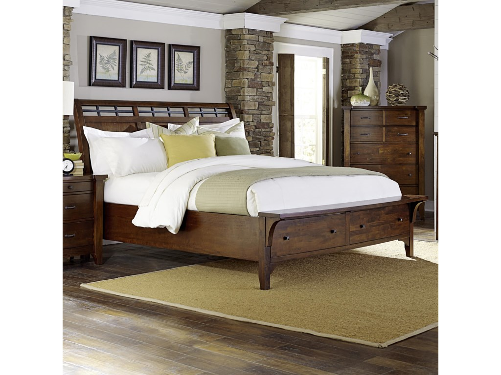 queen bed furniture mattresses beds storage drawers with city product cherry and hanover value item bedroom