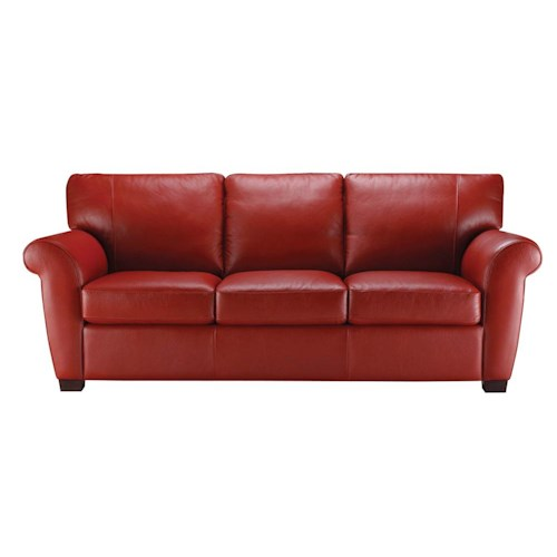 Natuzzi Editions A121 Stationary Leather Couch