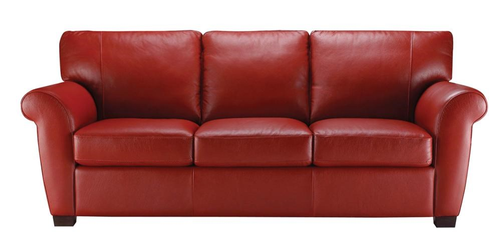 Delicieux Natuzzi Editions A121Stationary Leather Sofa