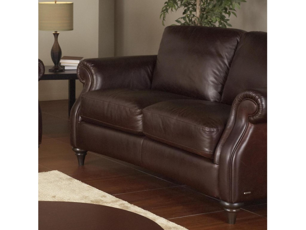Natuzzi Editions A297Leather Loveseat
