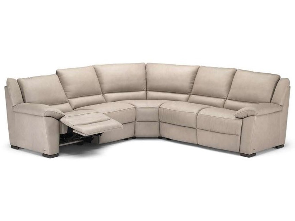Natuzzi Editions A319 Power Reclining Sectional Sofa with Pillow ...