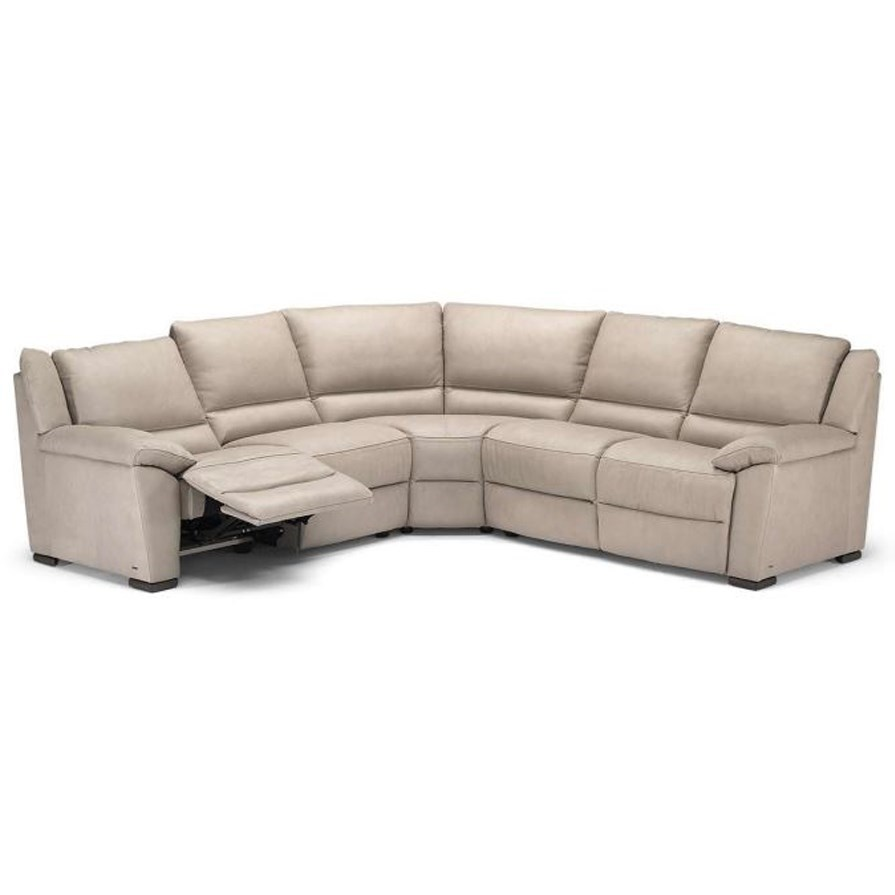 Superbe Natuzzi Editions A319 Power Reclining Sectional Sofa With Pillow Arms
