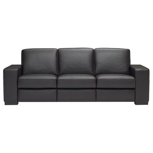 Natuzzi Editions A397 Contemporary Sofa with Track Arms