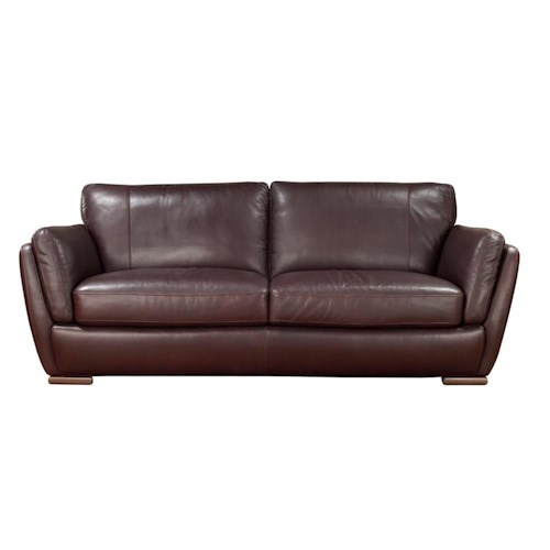 Natuzzi Editions A399 Stationary Sofa with Track Arms