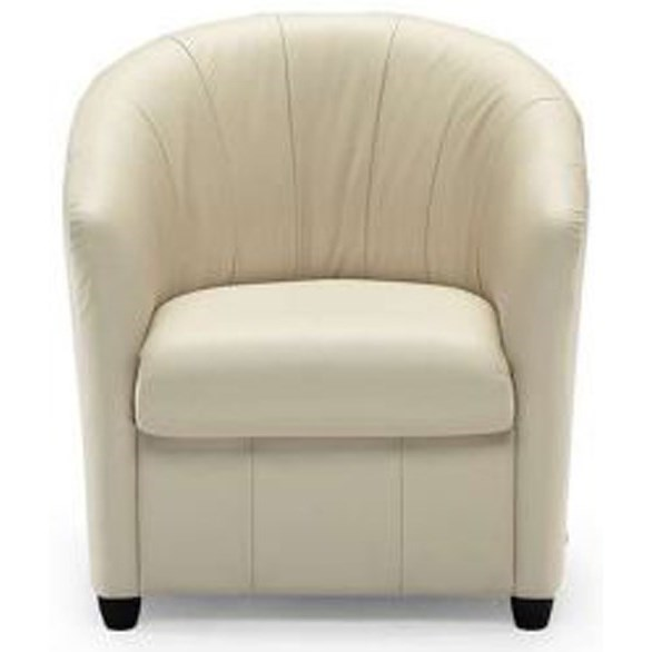 Delicieux Natuzzi Editions A835 Contemporary Barrel Chair With Wood Feet