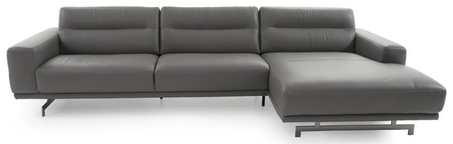 Natuzzi Editions Audacia C018 Sectional Contemporary 2 Pc Sectional