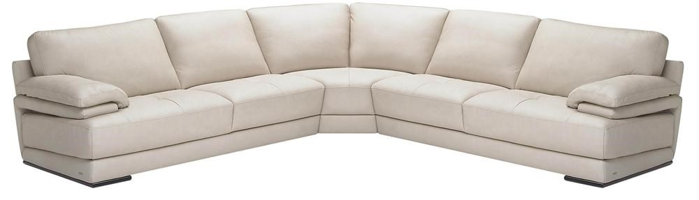 B504 Sectional With Corner Wedge By Natuzzi Editions