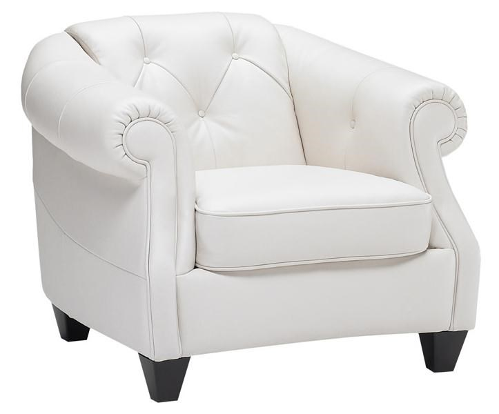 B520 Transitional Button Tufted Chair With Rolled And Sloped Arms By  Natuzzi Editions