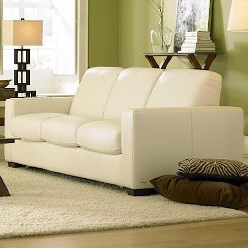 Natuzzi Editions B534 Stationary Leather Sofa