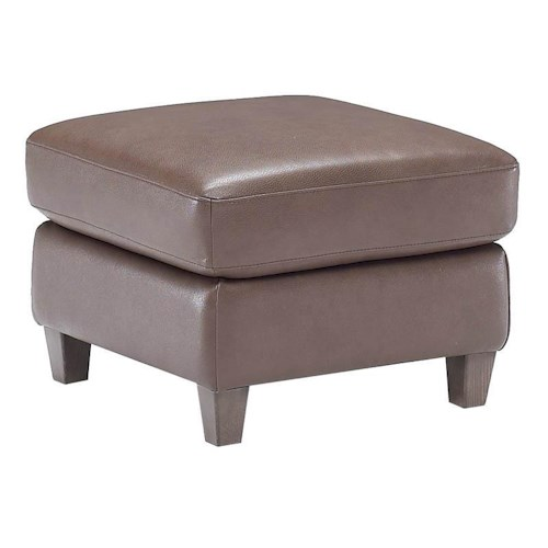 Natuzzi Editions B592 Contemporary Leather Ottoman