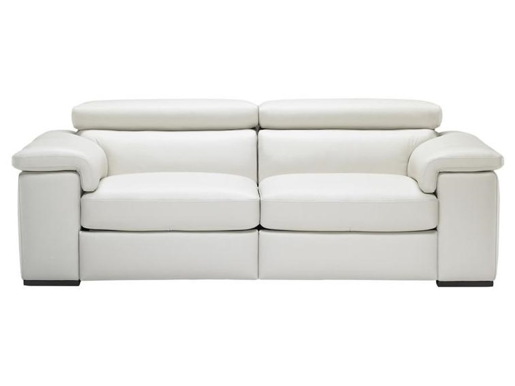 Natuzzi Editions B620 Contemporary Leather Sofa with Built-In ...