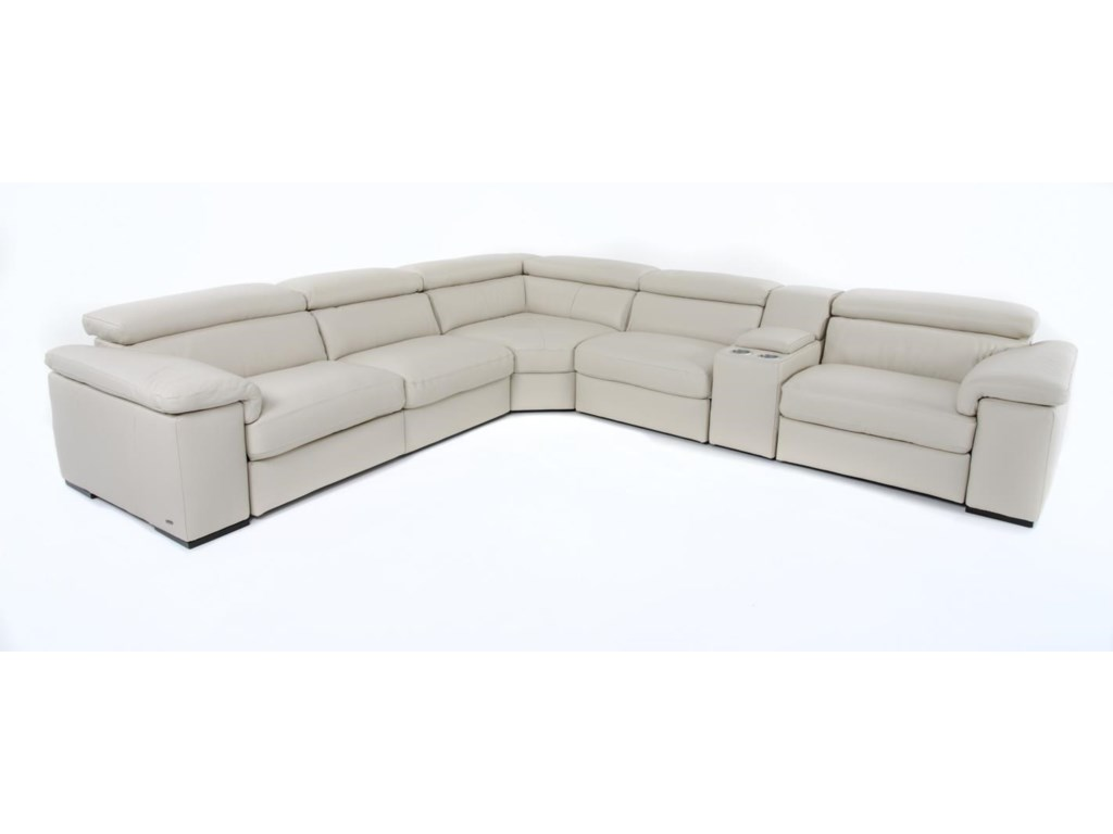 Natuzzi Editions B6206 Pc Reclining Sectional