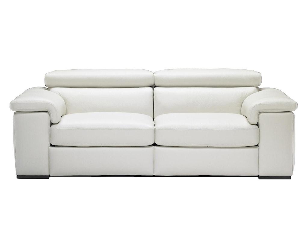 Natuzzi Editions B620 B620 446 Contemporary Power Reclining  ~ Power Reclining Leather Sofa
