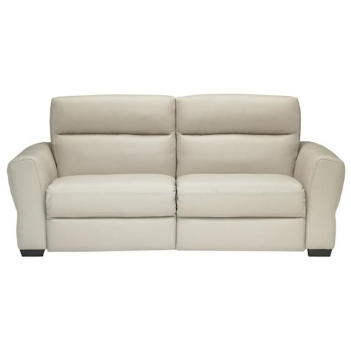 Natuzzi Editions B627 Transitional Stationary Sofa with Flared Track Arms and Lumbar Support