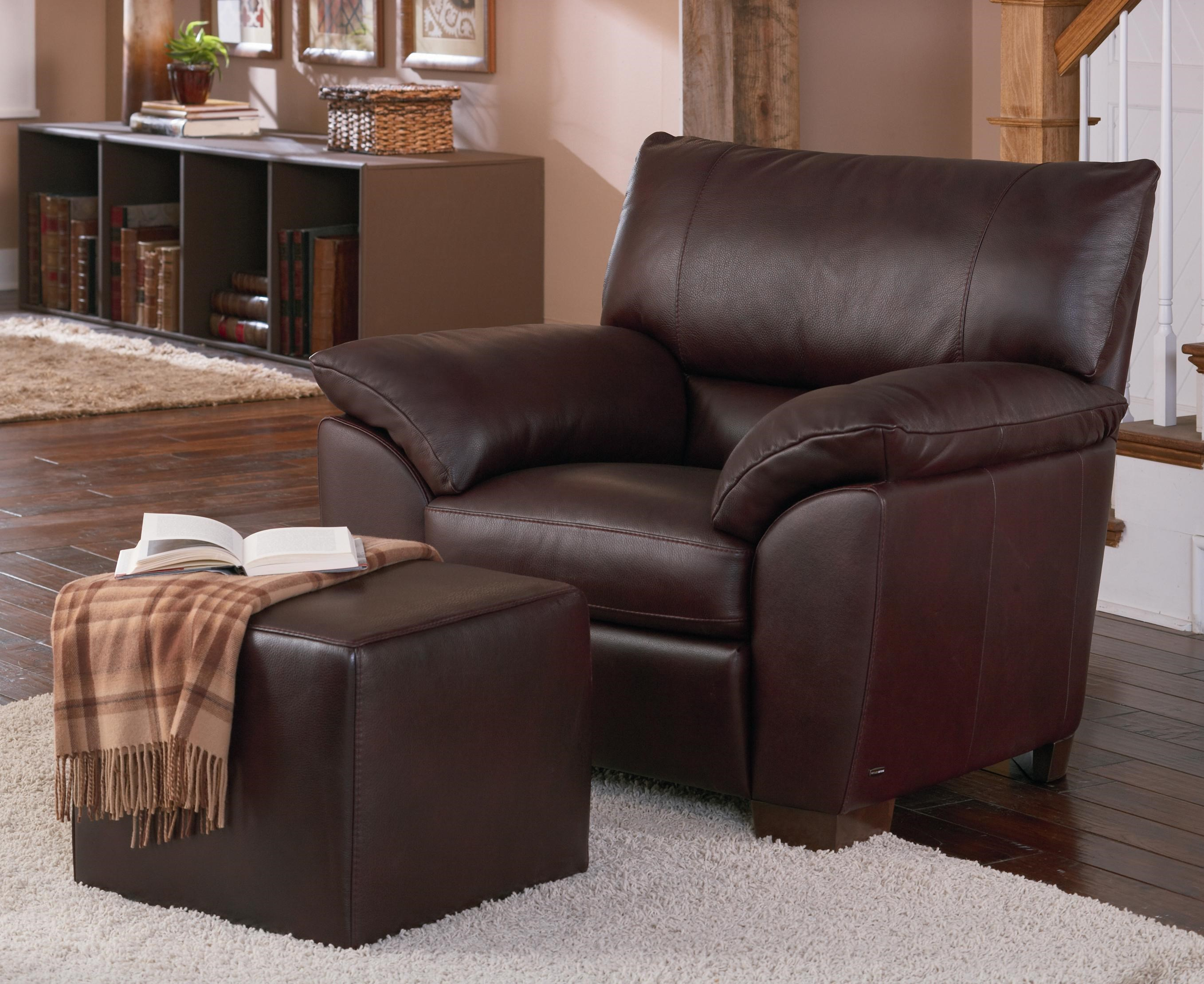 Genial Natuzzi Editions B632Leather Chair And Ottoman