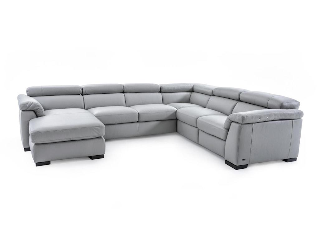 Natuzzi Editions B634sectional Sofa W Recline